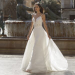 Kanten bustier een rok, trouwjurk in 2 stukken