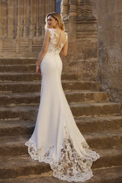 Aurelia - Zeemeermin trouwjurk kanten sleep en prachtige details