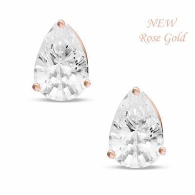 Rose swarovski oorbellen 1,5 x 1cm - code 1358 - € 30
