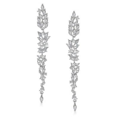 Oorbellen unieke design 6,5cm zilver - code 1721 € 70