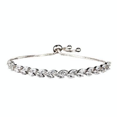 Kristallen armband in maat verstelbaar 17 + 5cm zilver code 1842 € 45
