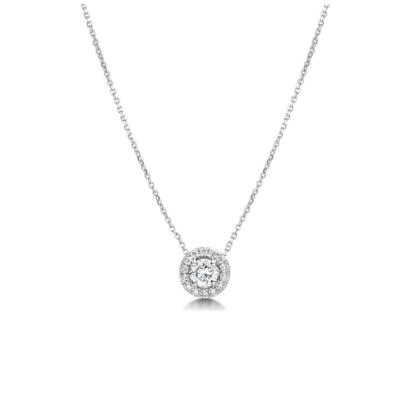 Kristallen ketting set 5mm zilver code 1966 - € 45
