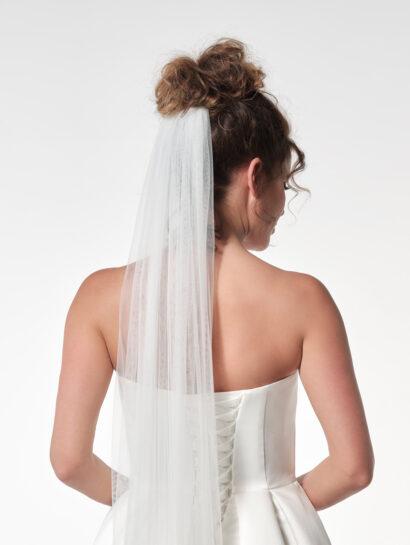 Effen bruidssluier S12 210cm