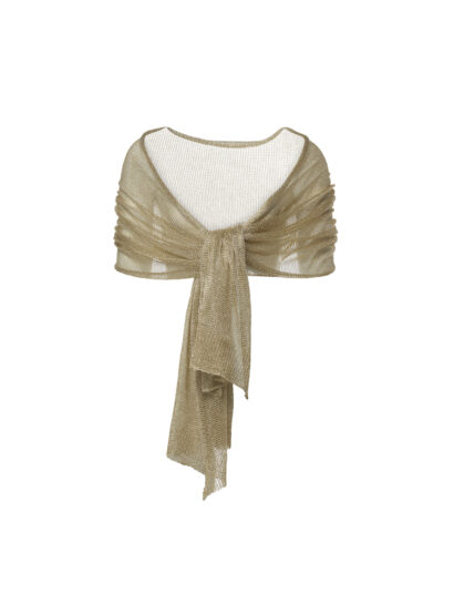 Stola in metallic look - goudkleurig - S142 - €35