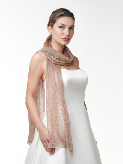 Stola in metallic look - rosé - S142 - €35