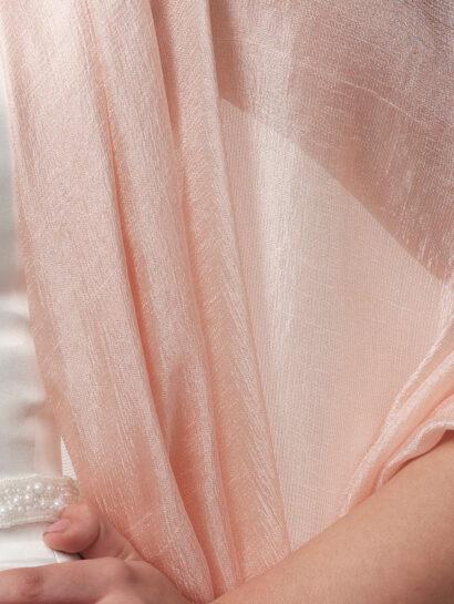 s144 Stola van transparant geweven stof. Voor bruiden die van romantiek houden - S144 blush - € 35