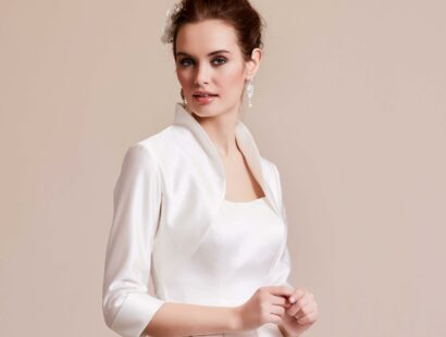 Bolero Lilly (09-3029-CR) van satijn ivory - €150