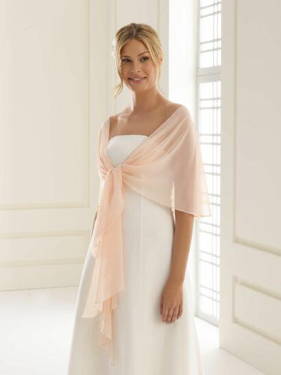 Sjaal van chiffon, grootte 140cm x 120cm x 40cm - E13 blush/pink - € 25