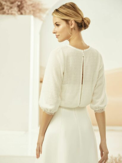 Bolero with cashmere effect - made from everspring with long sleeves E334 - Prijs € 75