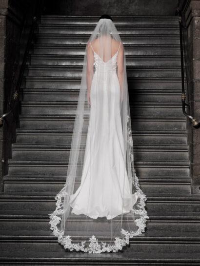 bruidssluier S364 350cm enkellaag