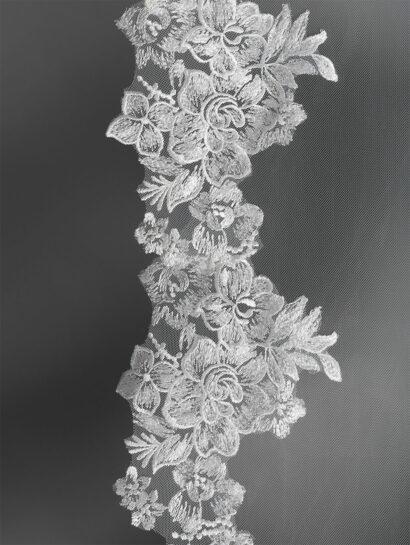 bruidssluier enkellaag 3,5meter