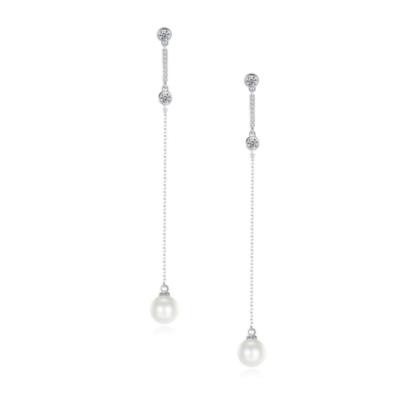 Drop earrings zirconia 7565